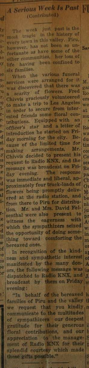 From the Fillmore American, Thursday, March 22, 1928, page 2