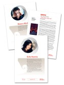 Design and lay-out for author brochures for Finnish Literature Exhange FILI. Printed and online versions. 2013.