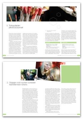 Several brochures for Mannerheim League of Child Welfare. According to organization sylebook pre-2010.