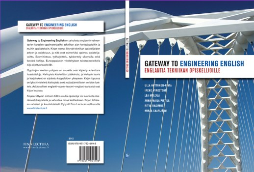 """Cover and lay-out design for """"Gateway to Engineering English"""" study book. Published by Finn Lectura 2010."""
