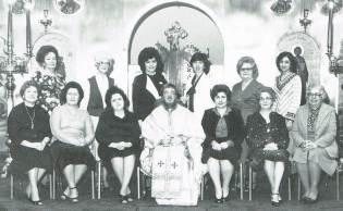 Father James Laliberte with Philiptochos 1981