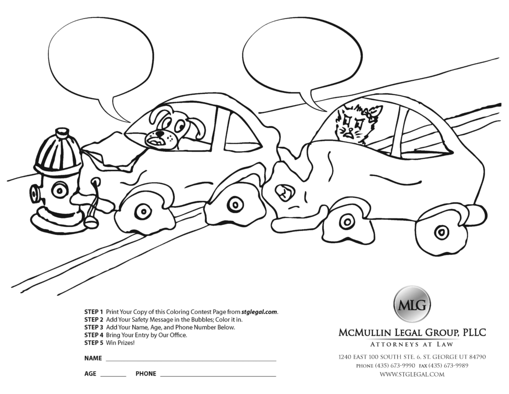 Driver Safety Contest Coloring Pages