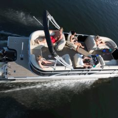 Captains Chair Cover For Pontoon Boat Chiropractic Wobble Benefits St Germain Sport Marine Snowmobile Pwc Sales Rentals New 23 Luxury Full Playpen 10 Powered Bimini High Back Raised Helm Gauges Depth Gauge Infinity Stereo With 4