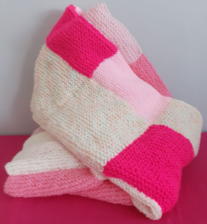Knitted Patchwork Blanket