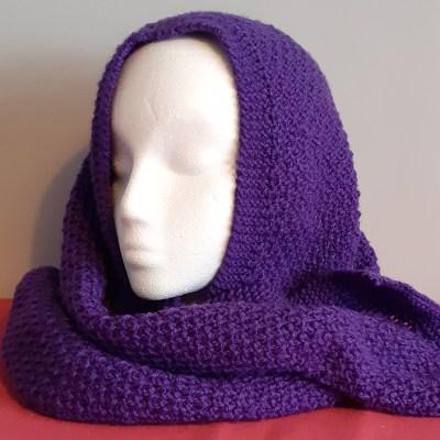 Purple Handknitted Scarg