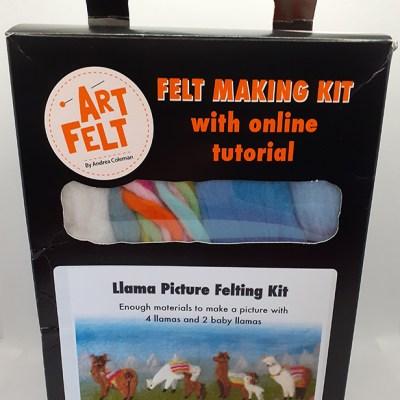 Art Felt Llama Picture Felting Kit