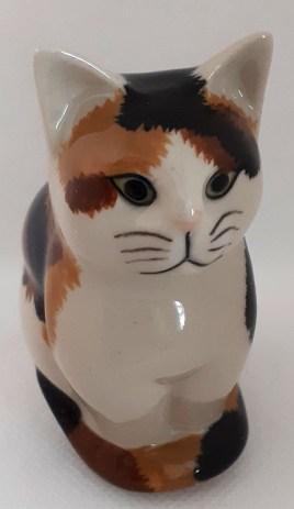 Quail Small Ceramic Cat