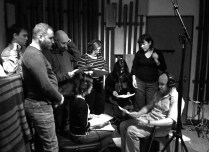 St Giles Choir recording session for Chelsea and Westminster Hospital charity appeal LP