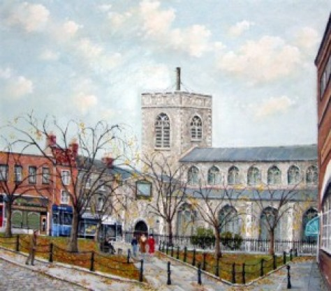 St Gregory's Church - painting
