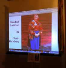 Karin Holmberg presents slides via livestream