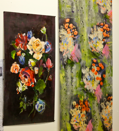 Jacqueline Douglas paintings, Textiles Hub London