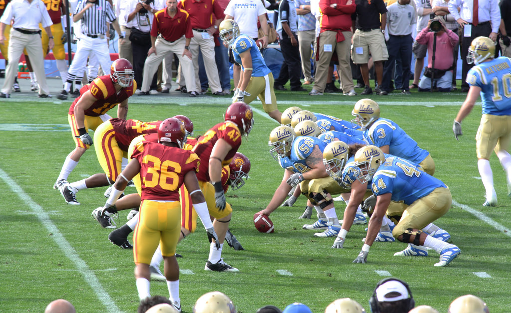 UCLA Bruins vs USC Trojans football game