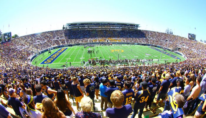 Cal Golden Bears football fans at California Memorial Stadium