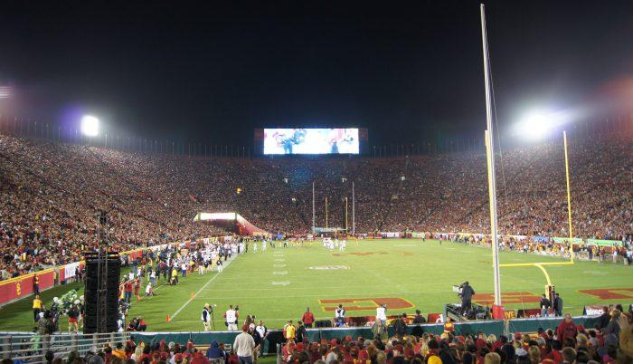 Home of the USC Trojans Los Angeles Memorial Coliseum