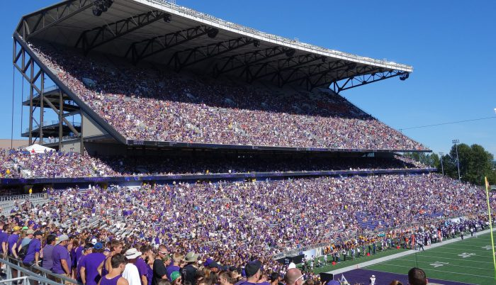 Washington Huskies football fans at Husky Stadium