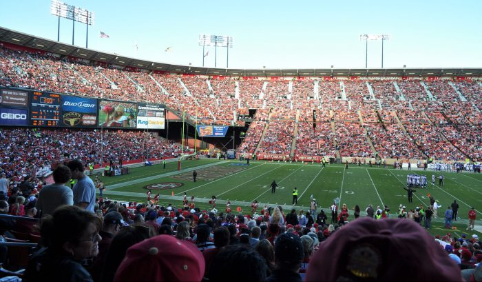 San Francisco 49ers fans at Levis Stadium