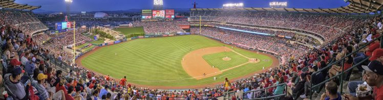 panoramic view of Angel Stadium
