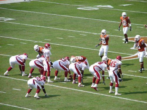 Arkansas vs Texas football game