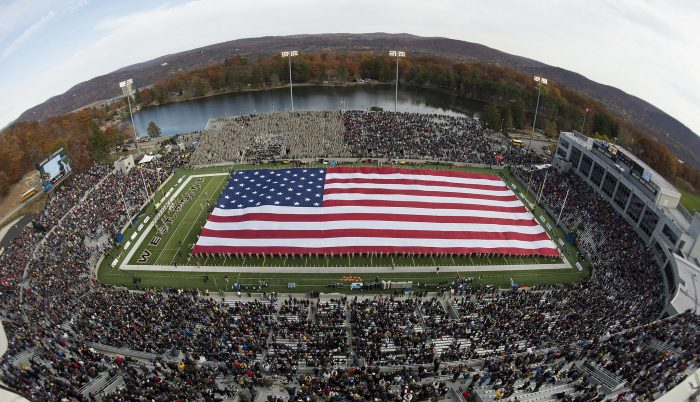 Home of the Army Black Knights Michie Stadium US flag