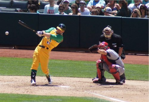 Athletics vs Angels baseball game