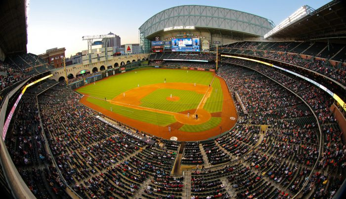 view of crowd at Minute Maid Park