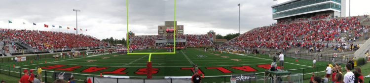 Ball State Cardinals football game at Scheumann Stadium