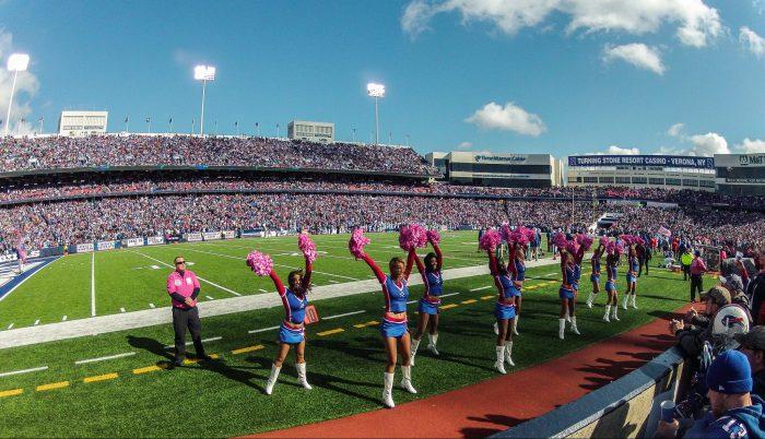 Buffalo Bills cheerleaders at New Era Field