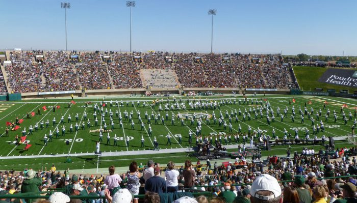 Colorado State Rams marching band performance