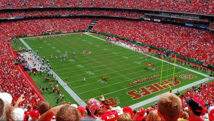 Kansas City Chiefs fans at Arrowhead Stadium