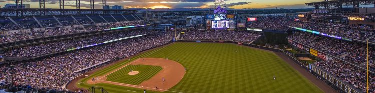 sunset at Coors Field