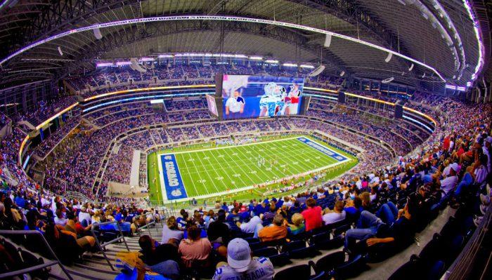 Dallas Cowboys fans at AT&T Stadium