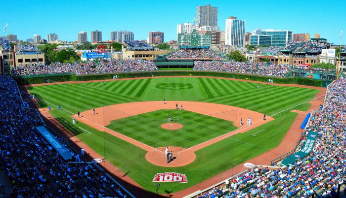 Wrigley Field view from above