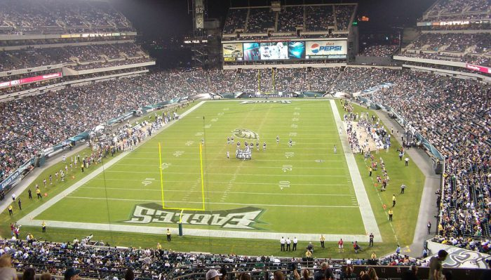 Philadelphia Eagles fans at Lincoln Financial Field