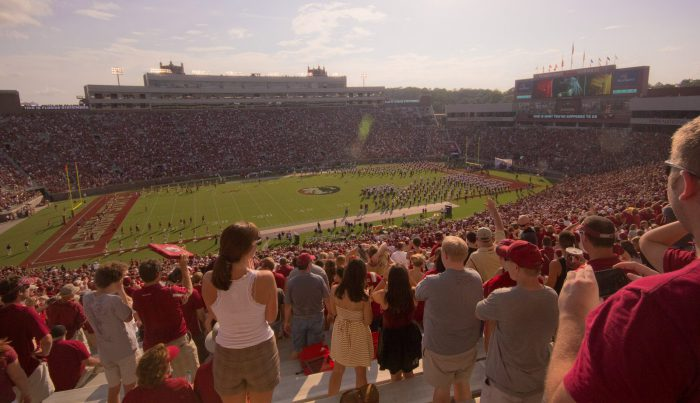 Florida State Seminoles fans at the football game in Doak Campbell Stadium
