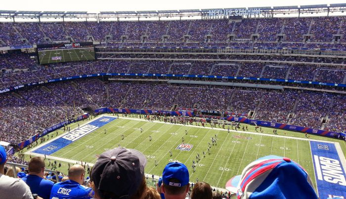New York Giants fans at MetLife Stadium