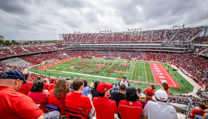 Houston Cougars football game at TDECU Stadium