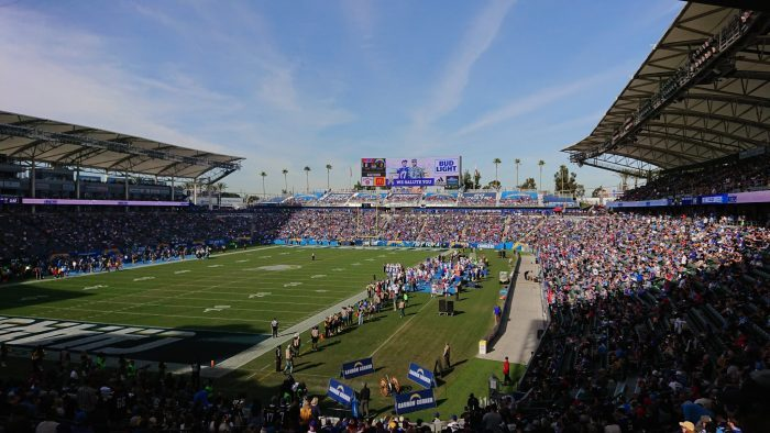 Los Angeles Chargers game at StubHub Center