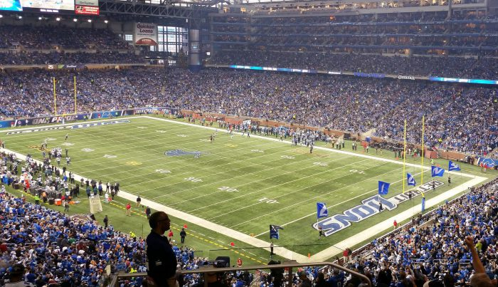 Detroit Lions game at Ford Field