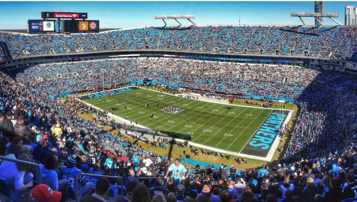 Bank of America Stadium filled with Carolina Panthers fans