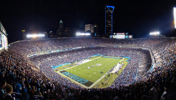 Carolina Panthers fans at Bank of America Stadium
