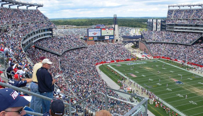 New England Patriots fans at Gillette Stadium