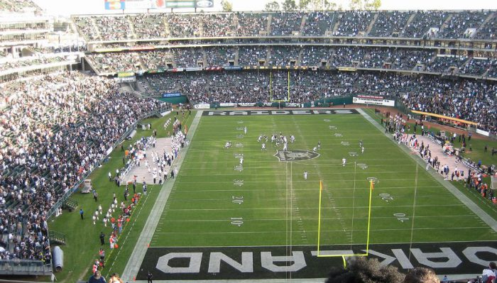Raiders game at Oakland Alameda County Coliseum