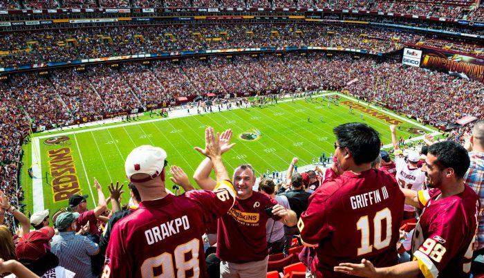 Washington Redskins fans at FedEx Field