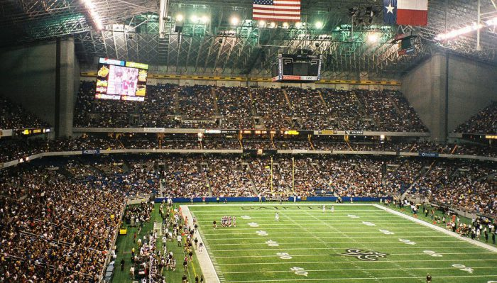 Home of the New Orleans Saints Mercedes Benz Superdome