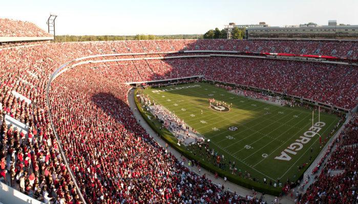 Georgia Bulldogs Sanford Stadium football