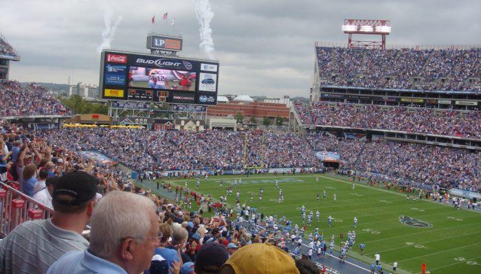 Tennessee Titans fans at Nissan Stadium