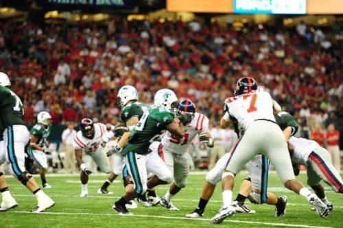 Tulane Green Wave vs Ole Miss Rebels football game