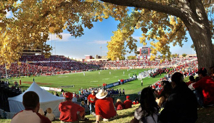 New Mexico Lobos football fans at Dreamstyle Stadium