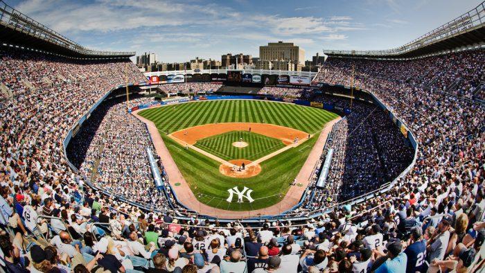 fan filled Yankee Stadium