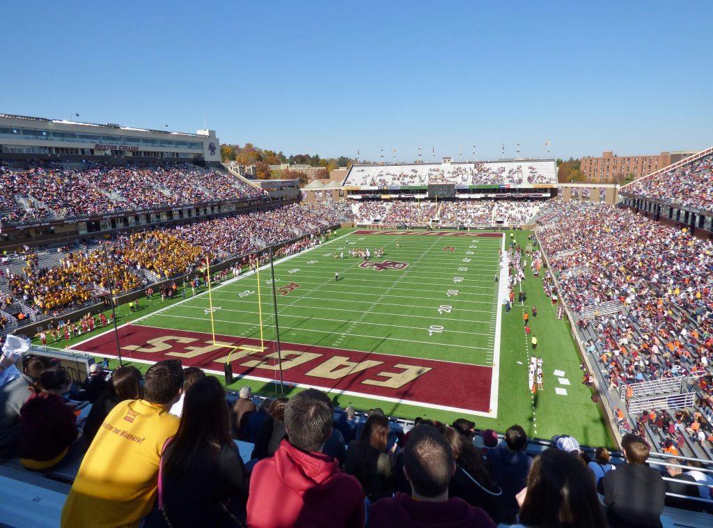 fans at Boston College Alumni Stadium